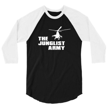 The Junglist Army 3/4 Sleeve Shirt Designed By Estore