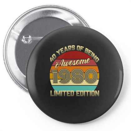 40 Years Of Being Awesome 1980 Limited Edition Pin-back Button Designed By Ashlıcar