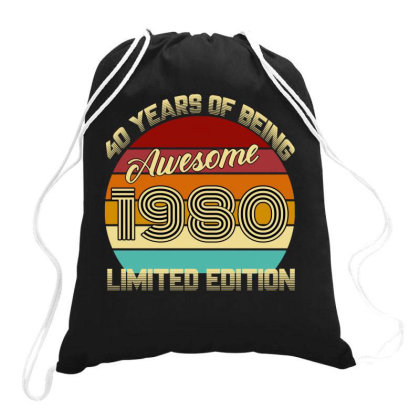 40 Years Of Being Awesome 1980 Limited Edition Drawstring Bags Designed By Ashlıcar