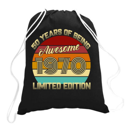 50 Years Of Being Awesome 1970 Limited Edition Drawstring Bags Designed By Ashlıcar