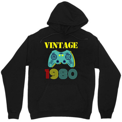 Vintage Game 1980 Unisex Hoodie Designed By Ashlıcar