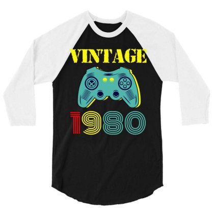 Vintage Game 1980 3/4 Sleeve Shirt Designed By Ashlıcar