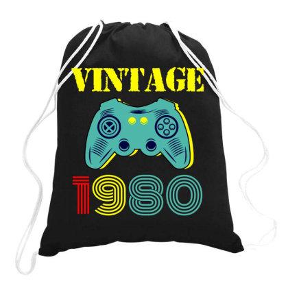 Vintage Game 1980 Drawstring Bags Designed By Ashlıcar