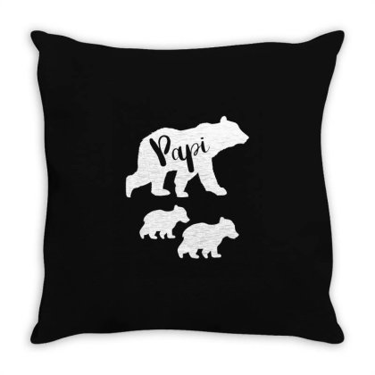 Shirt For Papi | Papi Bear Father's Day Gift Throw Pillow Designed By Cidolopez