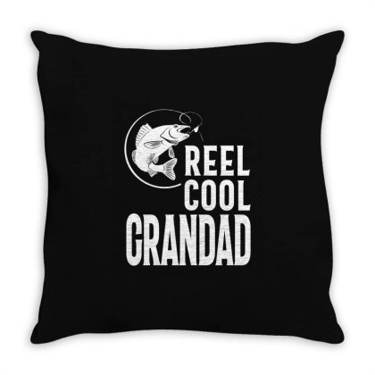 Gift For Grandad | Reel Cool Grandad Throw Pillow Designed By Cidolopez
