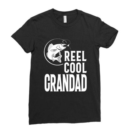 Gift For Grandad | Reel Cool Grandad Ladies Fitted T-shirt Designed By Cidolopez