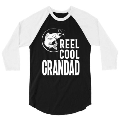 Gift For Grandad | Reel Cool Grandad 3/4 Sleeve Shirt Designed By Cidolopez