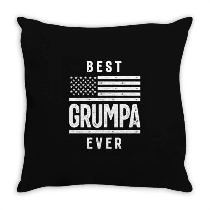 Gift For Grumpa | Best Grumpa Ever Throw Pillow Designed By Cidolopez