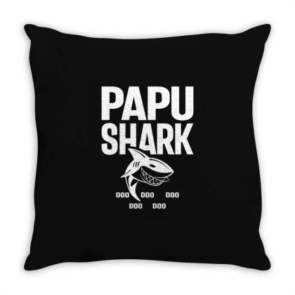Shirt For Papu | Papu Shark Father's Day Gift Throw Pillow Designed By Cidolopez