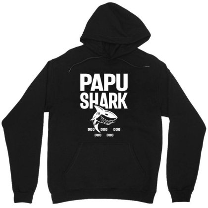 Shirt For Papu | Papu Shark Father's Day Gift Unisex Hoodie Designed By Cidolopez