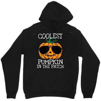 Kids Coolest Pumpkin In The Patch Halloween Boys Girls Unisex Hoodie Designed By Schulz-12