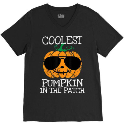 Kids Coolest Pumpkin In The Patch Halloween Boys Girls V-neck Tee Designed By Schulz-12