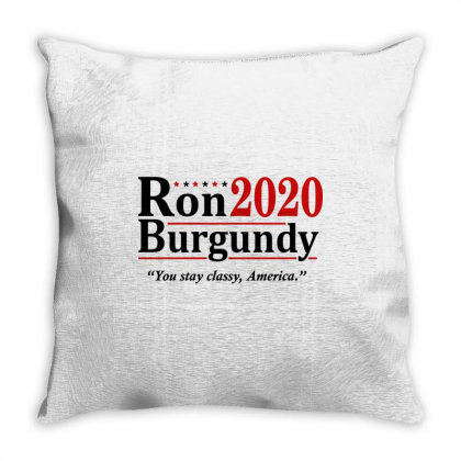 Ron Burgundy 2020 Election Throw Pillow Designed By Mito220