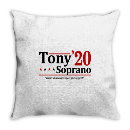 Tony Soprano 2020 Election Throw Pillow Designed By Firework Tess