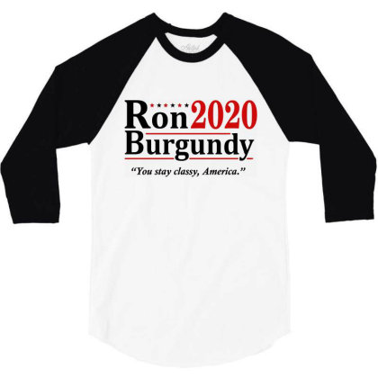 Ron Burgundy 2020 Election 3/4 Sleeve Shirt Designed By Mito220