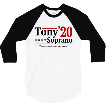 Tony Soprano 2020 Election 3/4 Sleeve Shirt Designed By Firework Tess