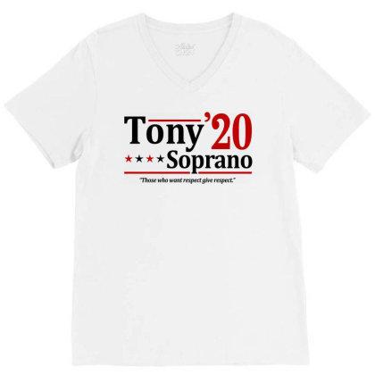 Tony Soprano 2020 Election V-neck Tee Designed By Firework Tess