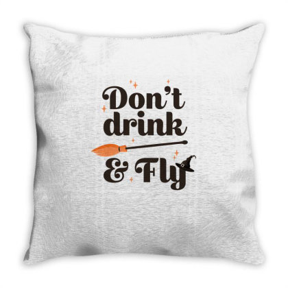 Don't Drink And Fly Cute Funny Gift Throw Pillow Designed By Koalastudio
