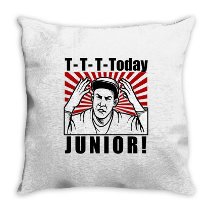 T T T  Today Junior Throw Pillow Designed By Firework Tess