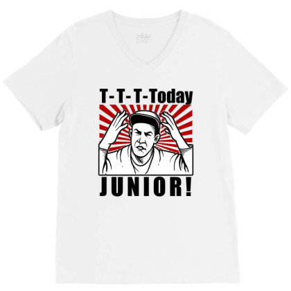 T T T  Today Junior V-neck Tee Designed By Firework Tess