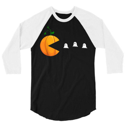 Funny Halloween Shirts For Women Kids Men Pumpkin Ghosts 3/4 Sleeve Shirt Designed By Schulz-12