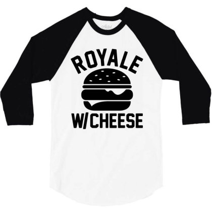 Royal With Cheese 3/4 Sleeve Shirt Designed By Mito220