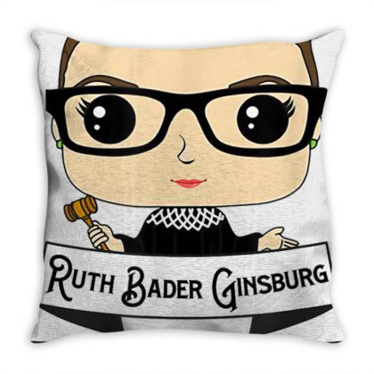 Cute Rbg Ruth Bader Ginsburg   Be Independent Feminist Throw Pillow Designed By Schulz-12