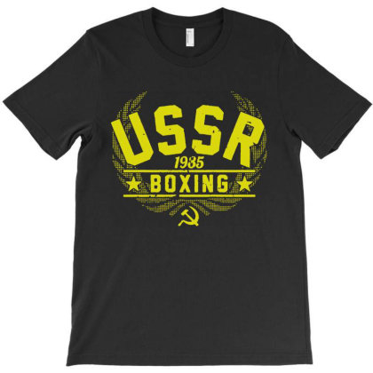 Ussr Boxing 1985 T-shirt Designed By Firework Tess