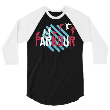 Parkour (2) 3/4 Sleeve Shirt Designed By Zizahart