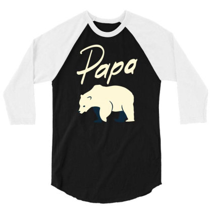Papa 3/4 Sleeve Shirt Designed By Zizahart