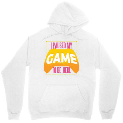 Paused Game Unisex Hoodie Designed By Zizahart