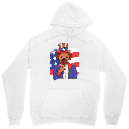 Patriotic Dog Unisex Hoodie Designed By Zizahart