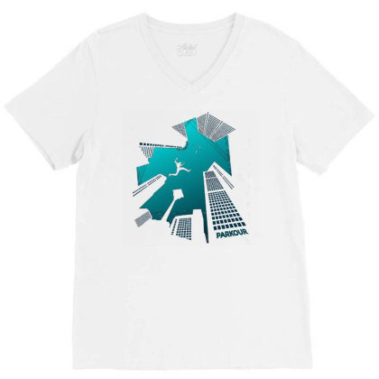 Parkour V-neck Tee Designed By Zizahart