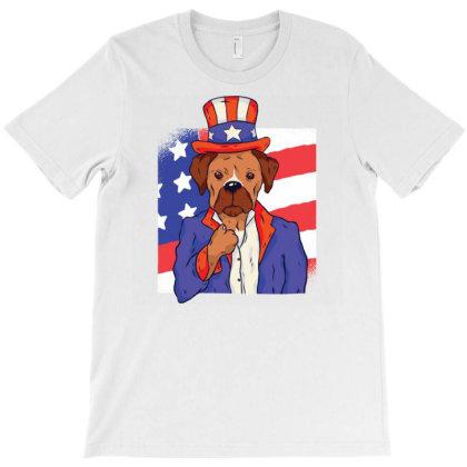 Patriotic Dog T-shirt Designed By Zizahart