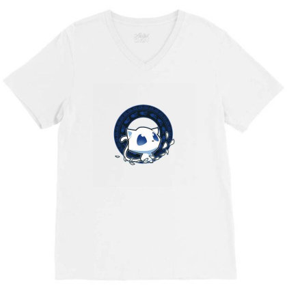 Chibi Knights V-neck Tee Designed By Alyssaknopwood
