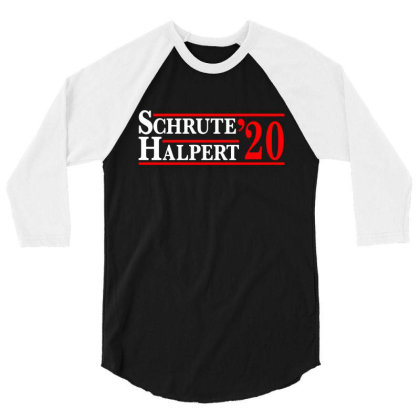 Schrute Halpert 2020 Election 3/4 Sleeve Shirt Designed By Mito220