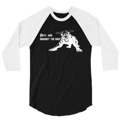 Who Brought The Dog 3/4 Sleeve Shirt Designed By Firework Tess