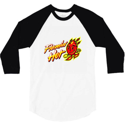 Flamin Hot 3/4 Sleeve Shirt Designed By Alyssaknopwood
