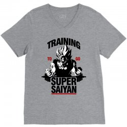 training-to-go-super-saiyan V-Neck Tee | Artistshot