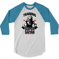 training-to-go-super-saiyan 3/4 Sleeve Shirt | Artistshot