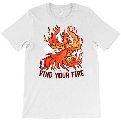 Phoenix Fire T-shirt Designed By Zizahart