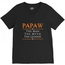 Papaw - PAPA - Grandfather - granddad V-Neck Tee | Artistshot