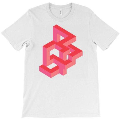 Pink Optical Illusion T-shirt Designed By Zizahart