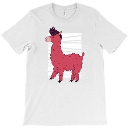 Pink Llama T-shirt Designed By Zizahart
