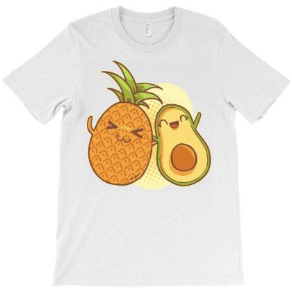 Pineapple Avocado Friends T-shirt Designed By Zizahart