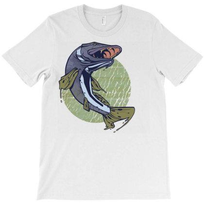 Pike Fish T-shirt Designed By Zizahart