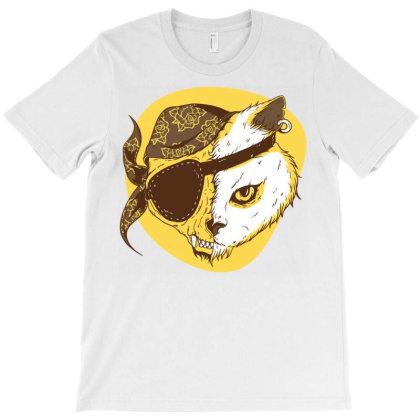 Pirate Cat T-shirt Designed By Zizahart