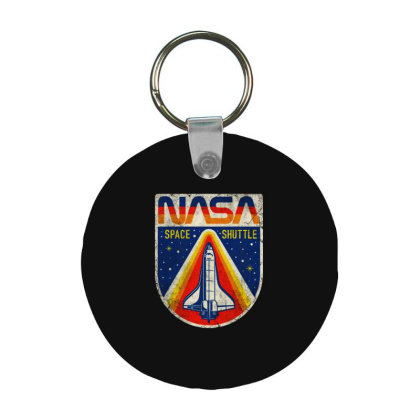 Nasa Vintage Frp Round Keychain Designed By Colorfull Art