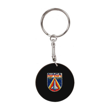 Nasa Vintage White Round Keychain Designed By Colorfull Art