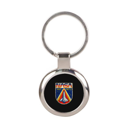 Nasa Vintage Round Keychain Designed By Colorfull Art